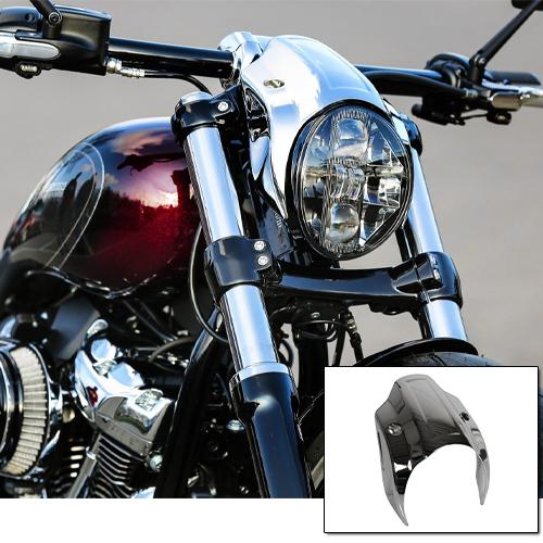 Thunderbike Chrome head light cowl FXBR Breakout